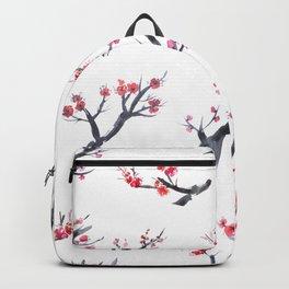 Sakura blossom, watercolor Backpack
