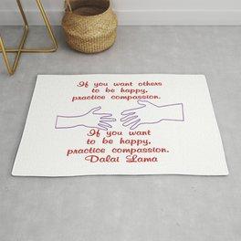Compassion - Dalai Lama - Corvid-19 - Breathe  Rug