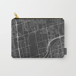 Vaughan Map, Canada - Gray  Carry-All Pouch