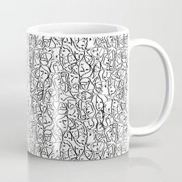 Mini Elio Shirt Faces in Black Outlines on White CMBYN Coffee Mug