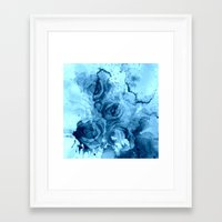 roses Framed Art Prints featuring roses underwater by clemm