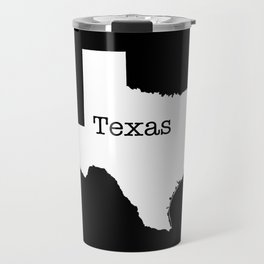 Cartography of the famous State of Texas Travel Mug