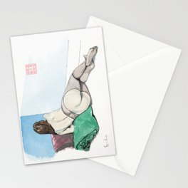 Reclining Nude Rear View Stationery Cards