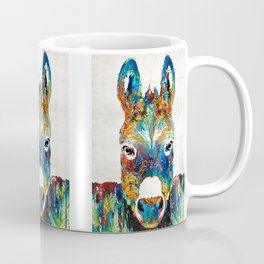 Colorful Donkey Art - Mr. Personality - By Sharon Cummings Coffee Mug