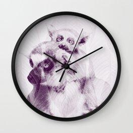 Happy Mother's Day - Lemur - maki catta Wall Clock