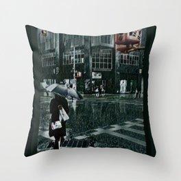 Asterisk/Right Arrow/Rainfall Throw Pillow