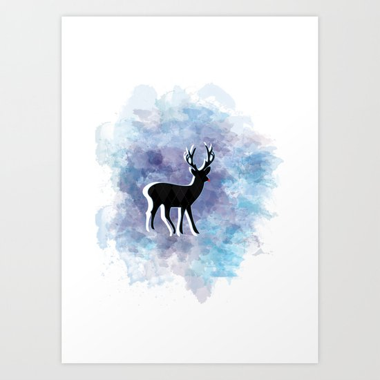 Somewhere In The Snow Art Print