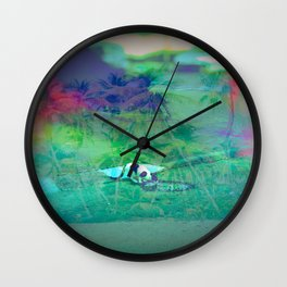 Cat Island in the City Wall Clock
