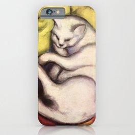 """Franz Marc """"Kater auf gelbem Kissen"""" iPhone Case"""