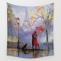 romantic Wall Tapestries featuring Romantic by OLHADARCHUK