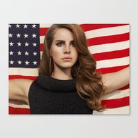 american Canvas Prints featuring American by Michelle Rosario