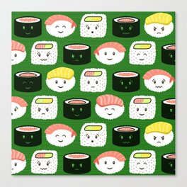 Yatta, Sushi! Canvas Print