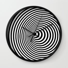 Vortex, optical illusion black and white Wall Clock