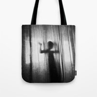 ghost Tote Bags featuring Ghost by Ni.Ca.