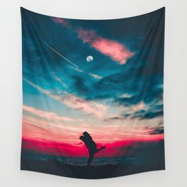 BACKLIT - COUPLE - DAWN - PHOTOGRAPHY Wall Tapestry