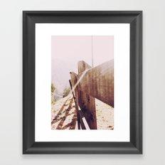 Fence in the Sunlight Framed Art Print