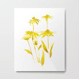 FLOWER ILLUSTRATION - BLACKEYE SUSAN 2 Metal Print