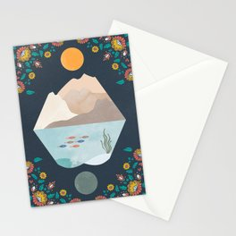 Oceans, Flowers, and Mountains Stationery Cards