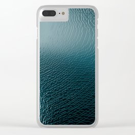 Abstract surface texture cave intricate pattern ice light illustration geometric painting Clear iPhone Case