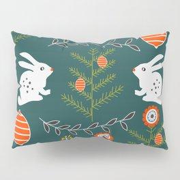 Winter holidays with bunnies Pillow Sham