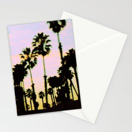California Dreaming Palm Trees Sunset Stationery Cards