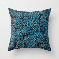 succulents Throw Pillows featuring Succulents by Kim Bajorek