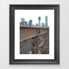 Brooklyn Bridge, New York City, Structural Architecture, Gussets Framed Art Print