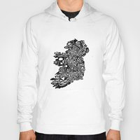 ireland Hoodies featuring Typographic Ireland by CAPow!