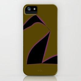Black Purple Swan. iPhone Case
