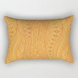 Hot Wave. tribal geometric seamless pattern Rectangular Pillow