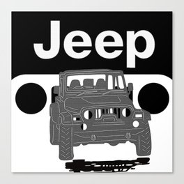 Jeep On the road Canvas Print