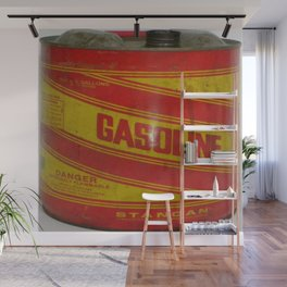 gasoline vintage stancan old can Wall Mural