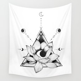 Lotus Crescent Wall Tapestry