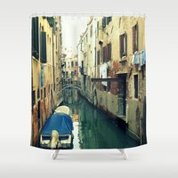 venice Shower Curtains featuring Venice by Mr & Mrs Quirynen