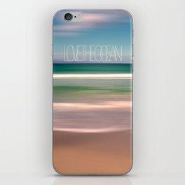 LOVE THE OCEAN I iPhone Skin