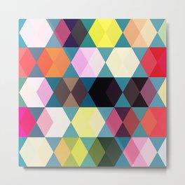 Tivoli Colourful Pattern  Metal Print