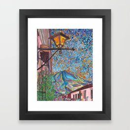 A Lamp in Antigua Framed Art Print