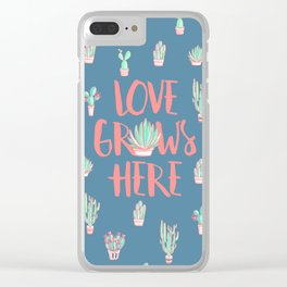 Love grows here Clear iPhone Case