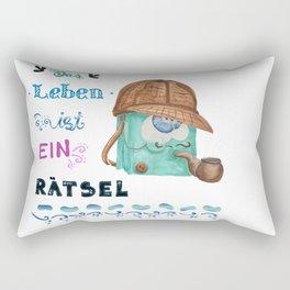 Das Leben ist ein Rätsel, Detektiv-Tasche Rectangular Pillow