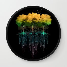 Connection Forest Wall Clock
