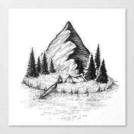 Camping Island Canvas Print