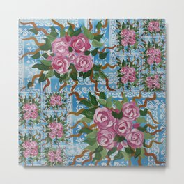 blue and pink Metal Print