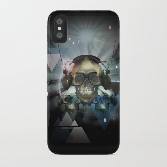 Pyramid skulls iPhone Case