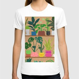 Plants on the Shelf in Warm Wood T-shirt