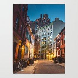 Twilight Hour - West Village, New York City Poster