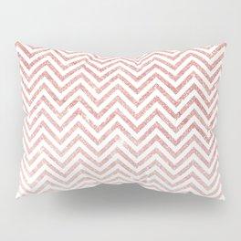 Stylish chic faux pink glitter chic chevron Pillow Sham