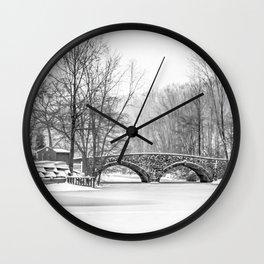 Stone Bridge Clove Lake Park Wall Clock