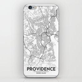 Minimal City Maps - Map Of Providence, Rhode Island, United States iPhone Skin
