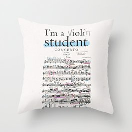 Violin student Throw Pillow
