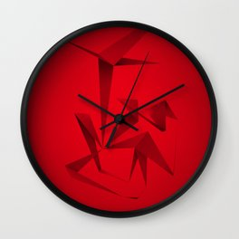 RED ANGLE Wall Clock